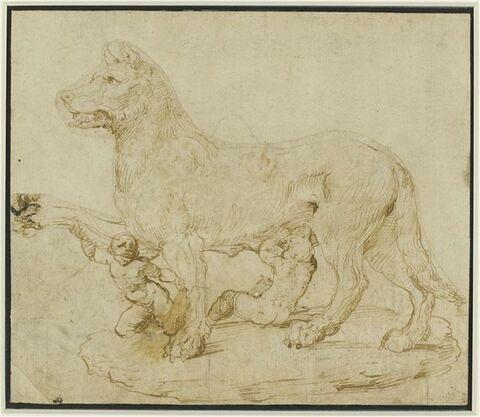 La Louve allaitant Romulus et Remus