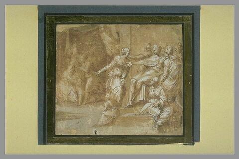 Scène avec des figures drapées à l'antique
