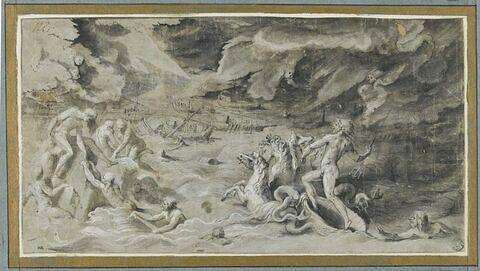 Naufrage d'Enée : Neptune sauvant Enée et son équipage des flots