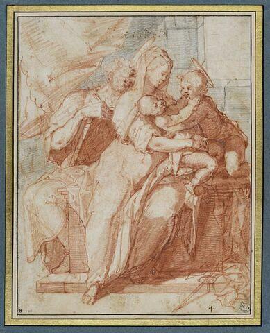 Sainte Famille avec le petit saint Jean.