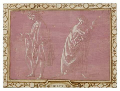 Deux hommes debout drapés