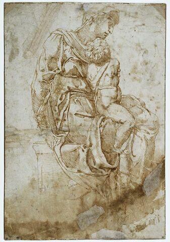 La Vierge assise tenant sur ses genoux l'Enfant Jésus : la Vierge Médicis
