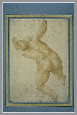 Etude d'homme de dos, d'après le Jugement Dernier de la Chapelle Sixtine