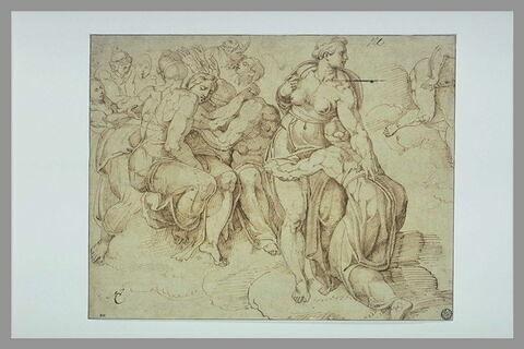 Figures, d'après le Jugement Dernier à la Chapelle Sixtine
