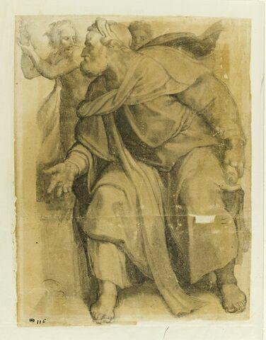 Le prophête Ezechiel, d'après la voûte de la Chapelle Sixtine