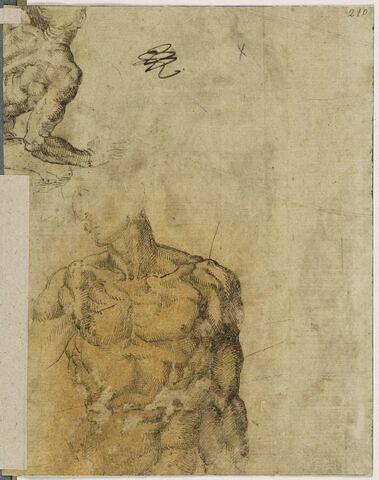Copies d'après 'Le Sacrifice de Noé' et un 'Ignudo', Cappella Sistina