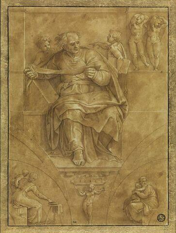 Le Prophète Joël, d'après la voûte de la Chapelle Sixtine