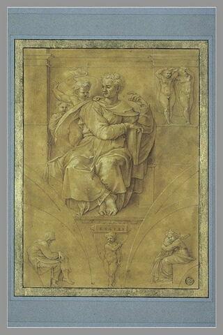 Le Prophète Isaïe, d'après la voûte de la Chapelle Sixtine