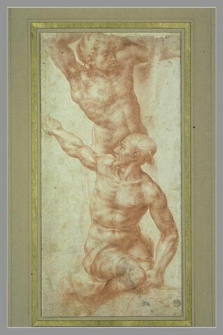 Deux figures, d'après la Bataille de Cascina