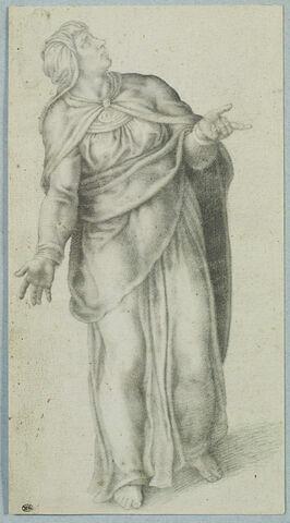 La Vierge debout, d'après la composition du Christ en croix