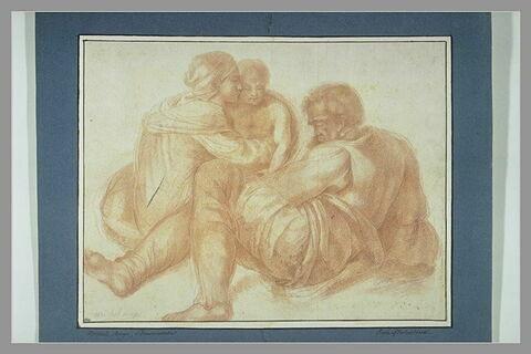 Le petit Josias, avec sa mère et son père, Amon