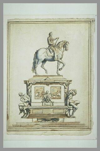 Projet pour le monument équestre d'Henri IV