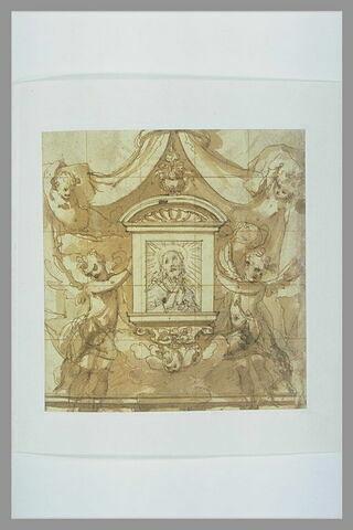 Projet de tabernacle soutenu par des anges