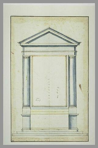 Projet pour un autel orné de deux colonnes doriques