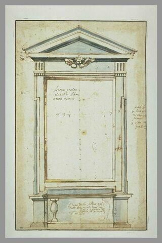 Projet d'autel décoré dans sa partie supérieure d'une tête d'ange