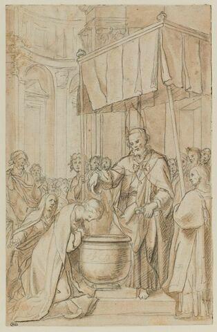 Saint Pierre évêque baptisant sainte Prisca, treizième fille de Prudenzio