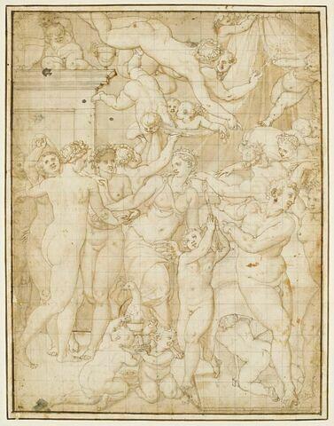 Allégorie de l'Hymen avec Vénus couronnée, et les Muses