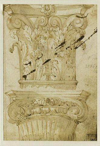 Chapiteaux antiques, corinthien et ionique