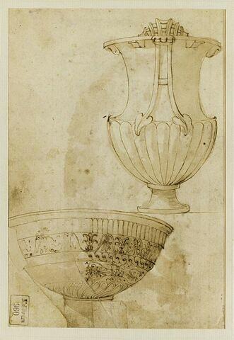 Vasque antique du Jardin des Princes (Villa Torlonia, Rome) et Cratère monumental de Santa Cecilia in Trastevere (Rome)