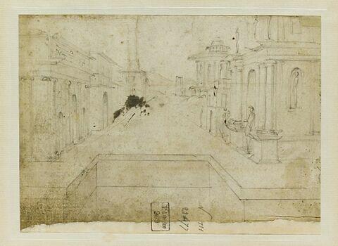 Etude en perpective d'une suite de monuments