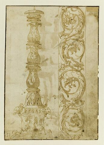 Candélabre de Sant'Agnese et Frise végétale de rinceaux et volutes