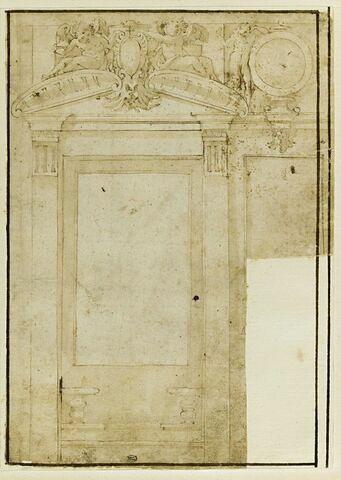 Étude de fenêtre de la salle de Léon X au Palazzo Vecchi de Florence