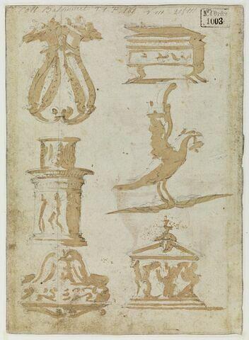 Six études de motifs décoratifs variés