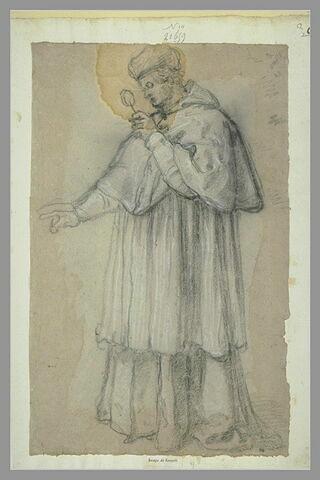 Etude pour un portrait du pape Léon X tenant une loupe