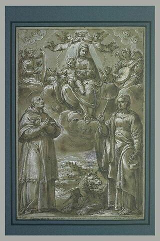 Apparition de la Vierge à l'Enfant à saint Charles Borromée et sainte Marthe