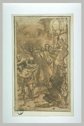 Baiser de Judas ; L'arrestation du Christ ; saint Pierre tranchant ...