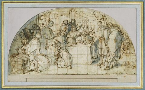 Saint Antonin, archevêque de Florence donnant l'aumône au gentilhomme