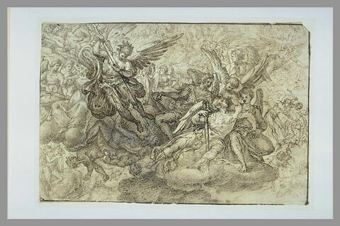Saint Michel foudroyant les Anges rebelles