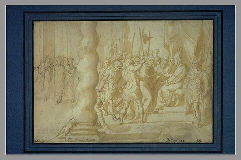 Le Christ conduit devant Caïphe par les soldats