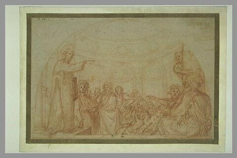 Prédication de saint Etienne ; détails d'une moulure