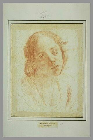 Teresa Bucherelli, femme de Carlo Dolci, vue en buste
