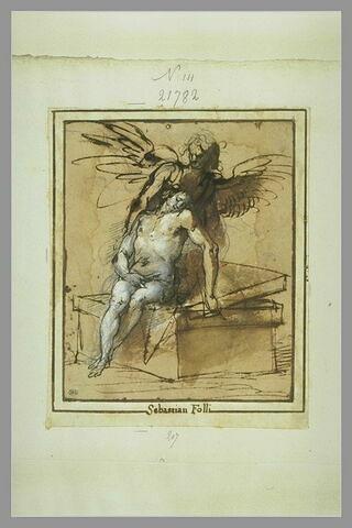 Le Christ de pitié soutenu par un ange