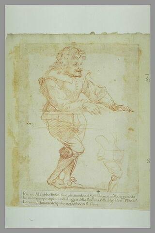Portrait en pied du bossu Trafedi, bouffon de Don Lorenzo de Médicis