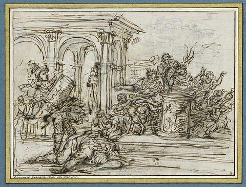 Mucius Scaevola tuant le secrétaire du roi Porsenna
