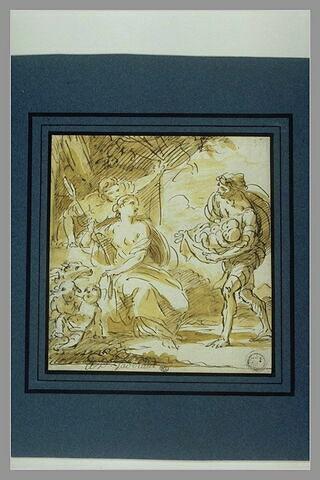 Le berger Faustulus apportant Romulus et Rémus à sa femme
