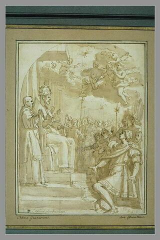 Pape bénissant un guerrier