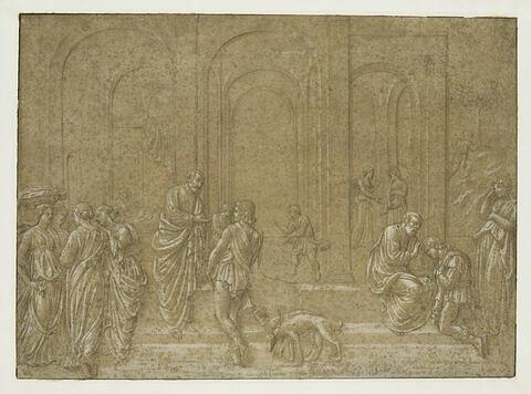 Scènes de l'histoire de Jacob et Esaü