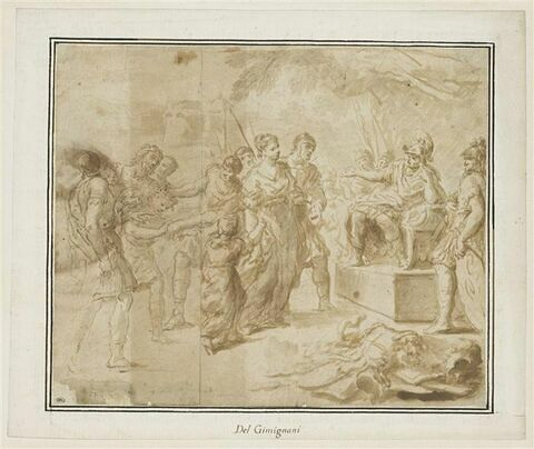 Timoclée amenée devant Alexandre