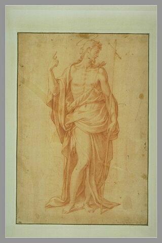 Saint Jean-Baptiste, debout, le visage tourné vers la droite