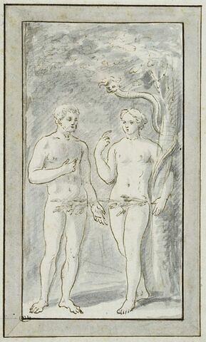 Adam et Eve tentés par le démon