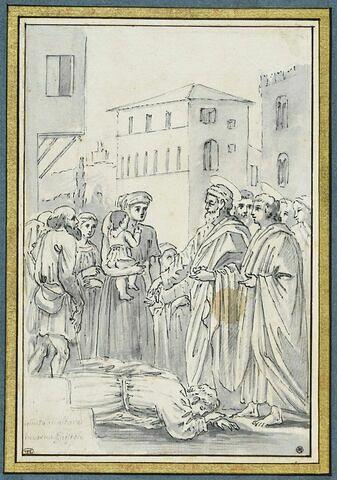 Saint Pierre faisant l'aumône