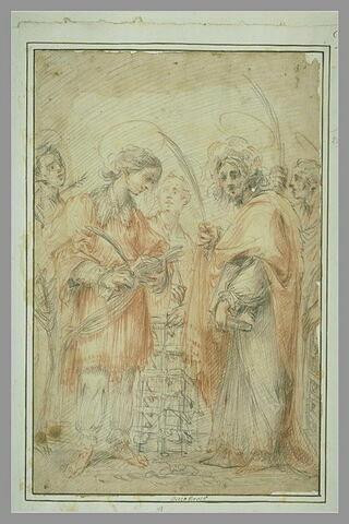 Cinq saintes et saints martyres, dont saint Laurent