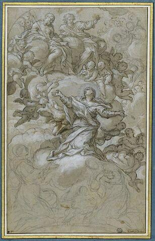 Assomption de la Vierge avec un saint et une sainte