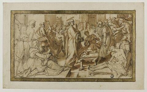 Saint Pierre guérissant des malades de son ombre