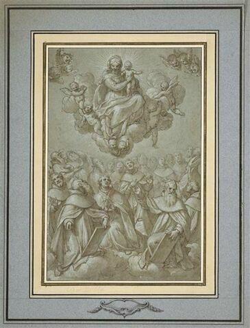 Les saints de l'ordre Dominicain adorant la Vierge à l'Enfant