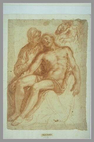 Pietà avec reprises réduites du même motif